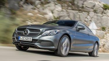 Mercedes C300 Coupe - front action