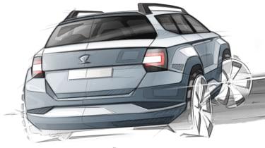 Skoda Karoq rear sketch