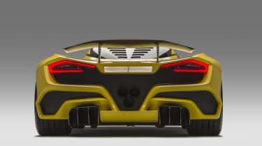 Hennessey Venom F5 rear in studio