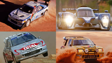 Top 10 Peugeot Sport motorsport cars - header