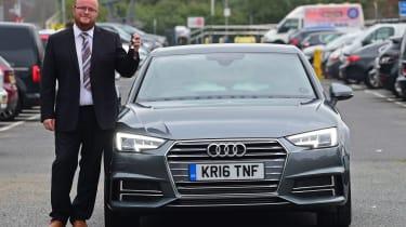 Audi A4 long-term test - final report header