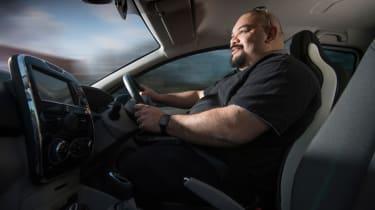 Warren Philips driving