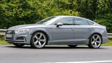 Audi RS5 Sportback spy shot side
