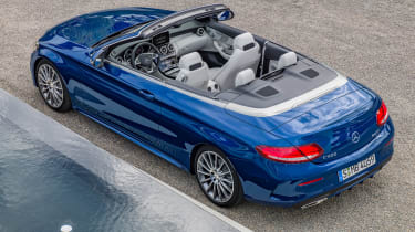 Mercedes C-Class Cabriolet - static overhead