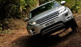 Range Rover Evoque off-road front