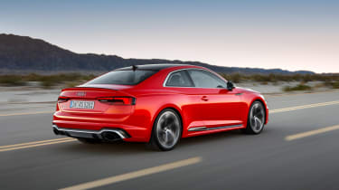 Audi RS5 driving rear side