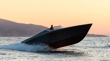Aston Martin AM37S boat - twilight