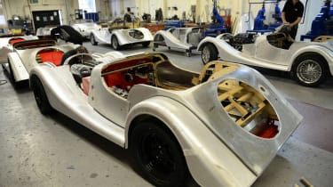 Morgan factory - car construction rear