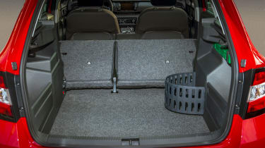 The boot is large at 530 litres, although the seats don't fold completely flat.