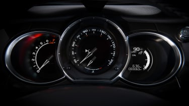 DS 3 hatchback and Cabrio - dials