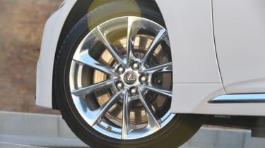Lexus LS 500h 2018 review - alloy wheel