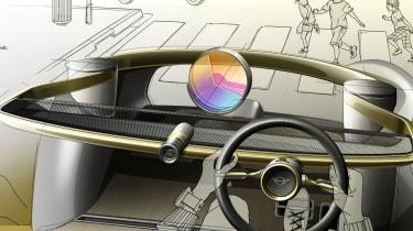 MINI Vision Next 100 concept - sketch interior