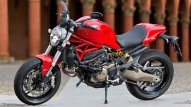 Ducati Monster 821 review - red side