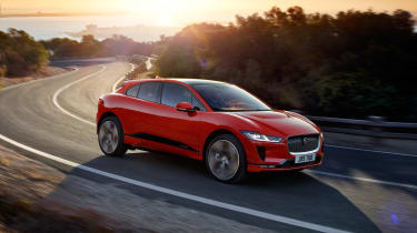 Jaguar I-Pace - front red action