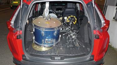 Honda CR-V: long-term test - drum kit in boot