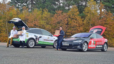 Tesla EV delivery drivers feature