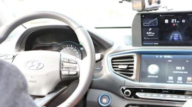 Hyundai Ioniq autonomous - dash