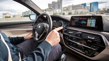 BMW 5 Series Personal CoPilot autonomous prototype  button