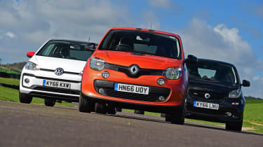 Renault Twingo GT vs Volkswagen up! vs Smart ForTwo Brabus