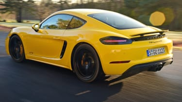 New Porsche Cayman GTS review - rear quarter