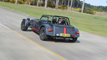 Convertible megatest - Caterham Seven 620S - rear tracking