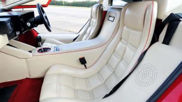 Lamborghini Countach 5000 QV front seats