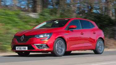 Honda Civic vs Volkswagen Golf vs Renault Megane - megane tracking