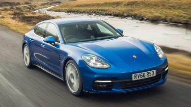 Porsche Panamera 4S diesel - front tracking