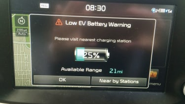 Kia Soul EV - battery warning