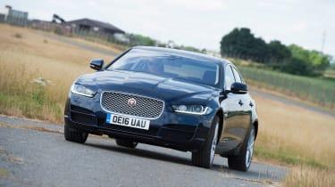 Jaguar XE AWD - front cornering