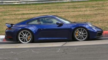 Porsche 911 blue side