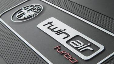 Alfa Romeo MiTo TwinAir engine badge