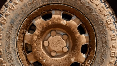 Land Rover Defender off road wheel