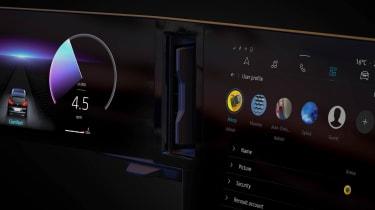 Renault Megane E-Tech Electric - dials teaser