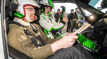 Skoda rally - Stephen Errity co-driver