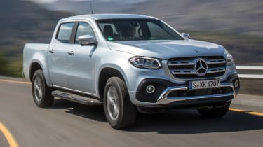 Mercedes X-Class campervan - front dynamic