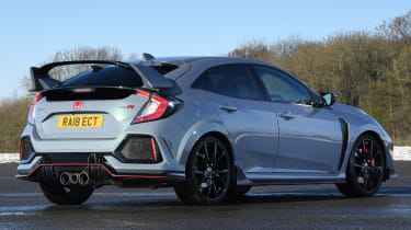 honda civic type r static rear