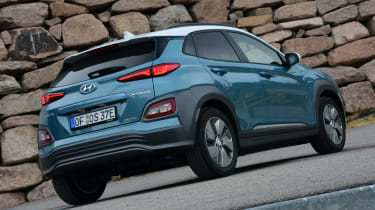 Hyundai Kona electric static rear quarter