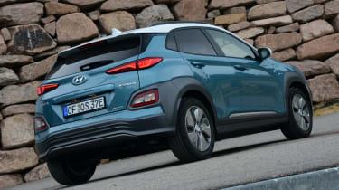 Hyundai Kona electric static rear quarter