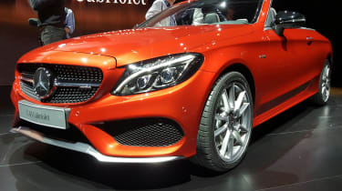 Mercedes C-Class Cabriolet - front/side orange show