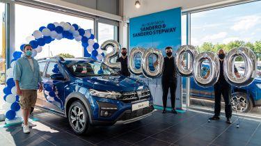 Dacia 200,000 ales in the UK