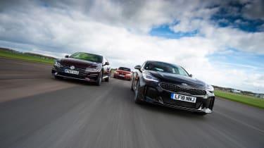Kia Stinger vs Volkswagen Arteon vs BMW 4 Series - head-to-head