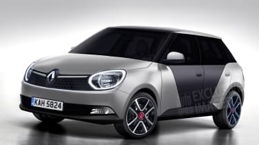 Renault 5 Auto Express rendering - front