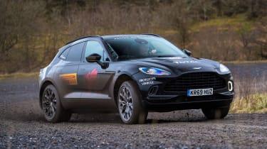 Aston Martin DBX prototype - front cornering