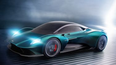 Aston Martin Vanquish Vision concept - front action