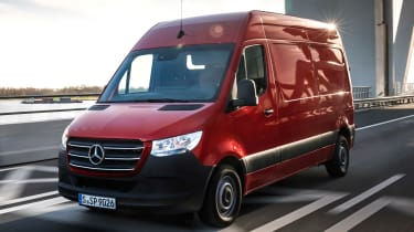 Mercedes Sprinter - red front action