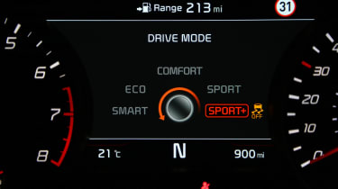 Kia Stinger - drive mode
