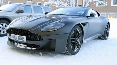 Aston Martin Vanquish winter spy front