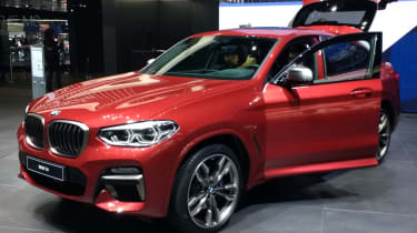 New BMW X4 front quarter