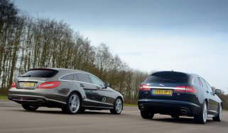 Mercedes CLS Shooting Brake vs Jaguar XF Sportbrake